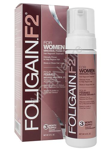 foligain f2 formule mousse au minoxidil pour femme traitement de 3 mois. Black Bedroom Furniture Sets. Home Design Ideas